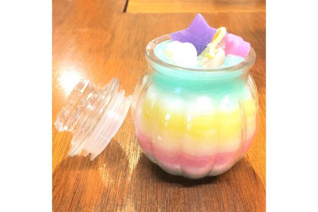 【栃木・宇都宮】カボチャ型のグラスにキャンドル作り(60分)