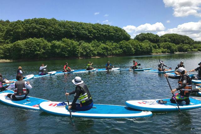 【栃木・那須】矢の目ダム湖・SUPツアー(2時間30分)