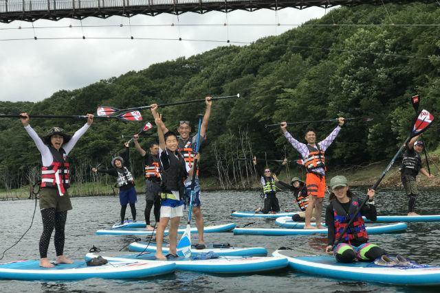 【栃木・那須】矢の目ダム湖・SUPツアー(5時間30分)
