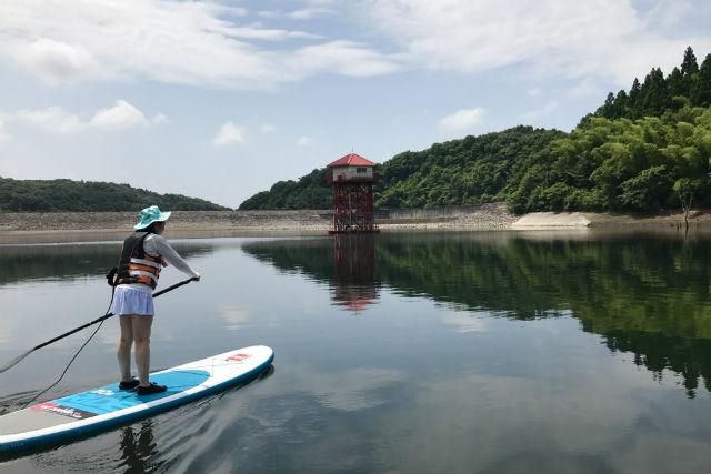 【栃木・那須】早朝・矢の目ダム湖・SUPツアー(1時間45分)