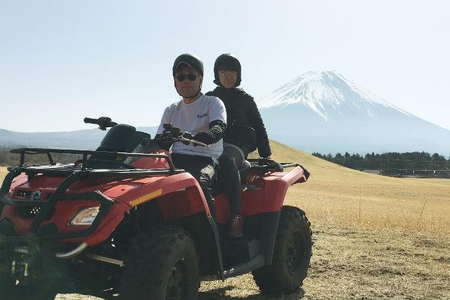 【静岡・富士宮市・4輪バギー】富士の絶景をめぐる!ATV4輪バギー(1時間)