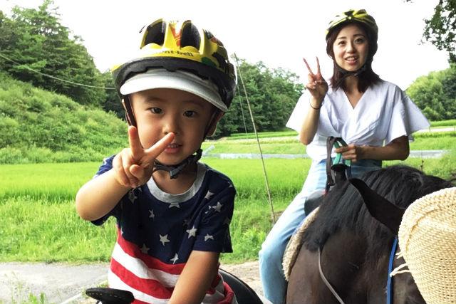 【岡山・和気郡】馬に乗ってお散歩。山コース(乗馬時間:30分)