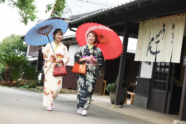 【福岡・能古島】着物姿で、のこのしまアイランドパークをお散歩!(着付けつき)