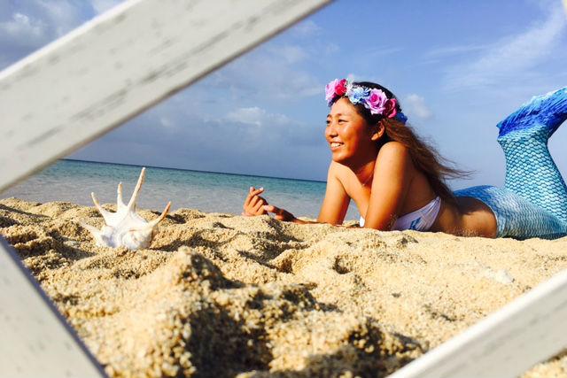 【沖縄・宮古島】美しい人魚に変身!マーメイドフォト(5カットデータをプレゼント)