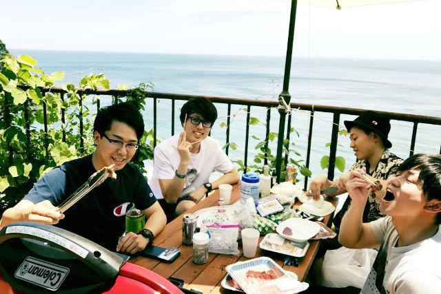 【静岡・熱海・BBQ】開放感あふれる!オーシャンビューを見ながらBBQ(食材持ち込み)