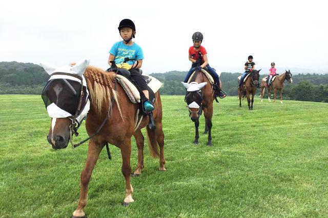 【栃木・那須・乗馬体験】丘をトレッキング。マウンテンビューコース(約45分)