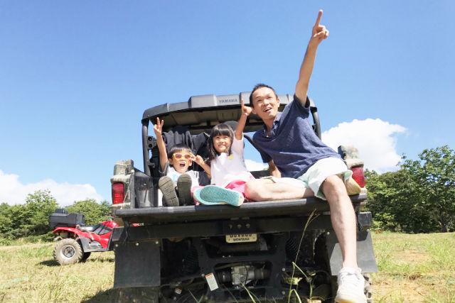 【岐阜・ひるがの高原・バギー】子供も乗れる3人乗りバギーでひるがの高原絶景ツアー(1時間)