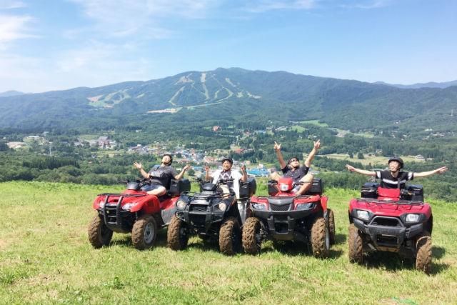 【岐阜・ひるがの高原・バギー】2人乗りバギーで大日岳一望の山頂ドライブ(1時間)