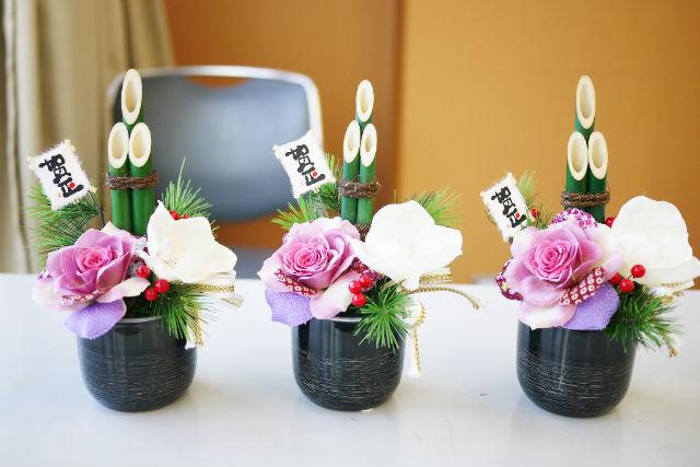 【名古屋・フラワーアレンジメント】新年の飾り付けに。お正月ミニ門松アレンジ