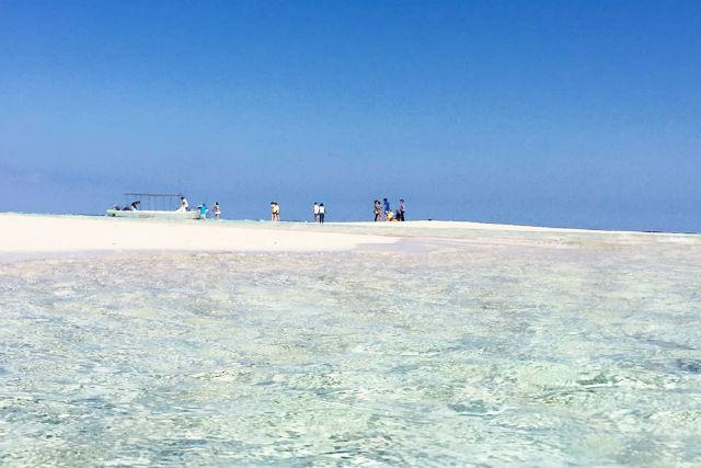 【与論島・クルージング】百合ヶ浜上陸&海中公園をグラスボートで遊覧!