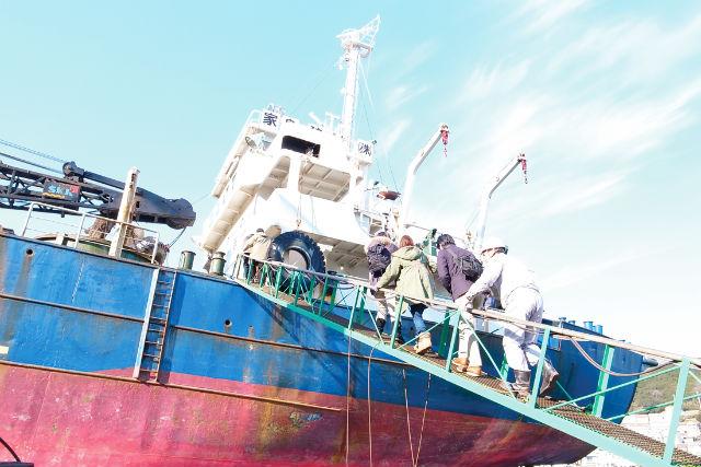 【兵庫・家島・ガイドツアー】真浦散策と家島の造船所で「ガット船」見学