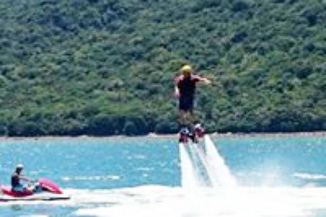 【岡山・備前・フライボード】海と山の絶景!空飛ぶフライボード体験