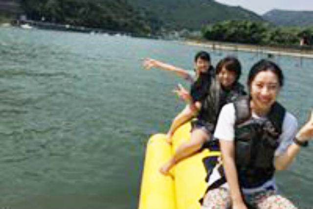 【岡山・備前・バナナボート】子どもと一緒に遊ぼう!バナナボート