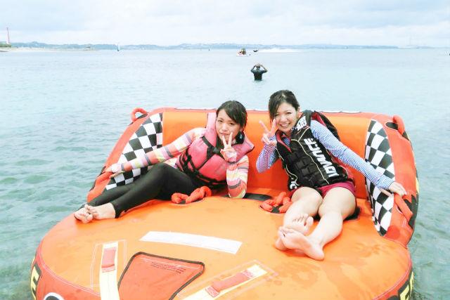 【沖縄・うるま・フライボード】お得なセットプラン!フライボード&ウェイクボード&バナナボート&スーパーマーブルセット
