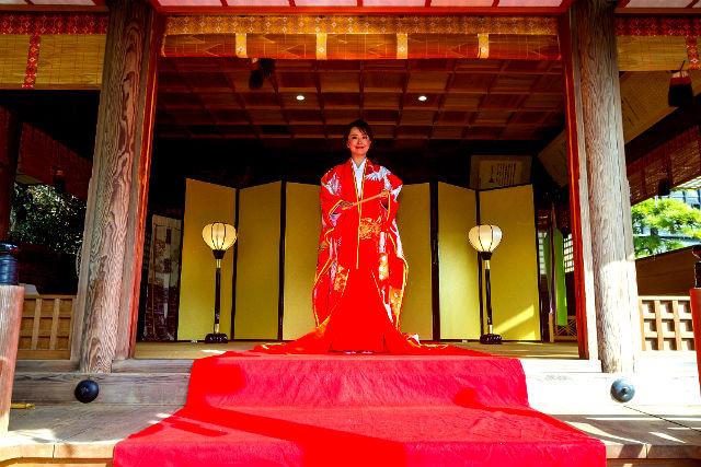 【大分・中津・変身写真】奥平神社でお姫様に変身!(抹茶スイーツ付き)