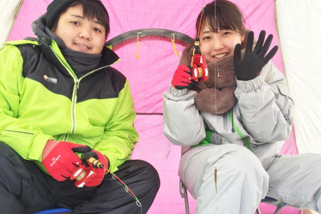 【北海道・ワカサギ釣り】ゆったりワカサギ釣り&ぽかぽか温泉1日プラン