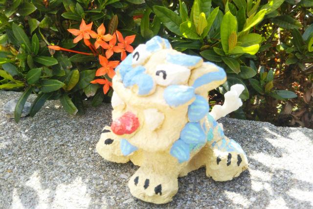 【沖縄・恩納村・陶芸体験】1組で民家を貸し切り!手作りのしっくいシーサーをつくろう