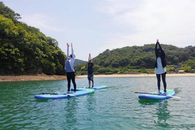 【広島・尾道・SUP】瀬戸内海上をゆっくりお散歩!SUP体験(ランチ・ストレッチ付き)