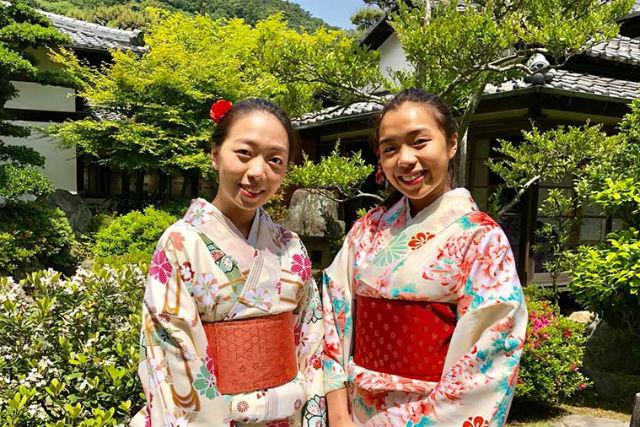 【香川・高松・着物レンタル】着物を着て日本最大の特別名勝、栗林公園をお散歩しよう!