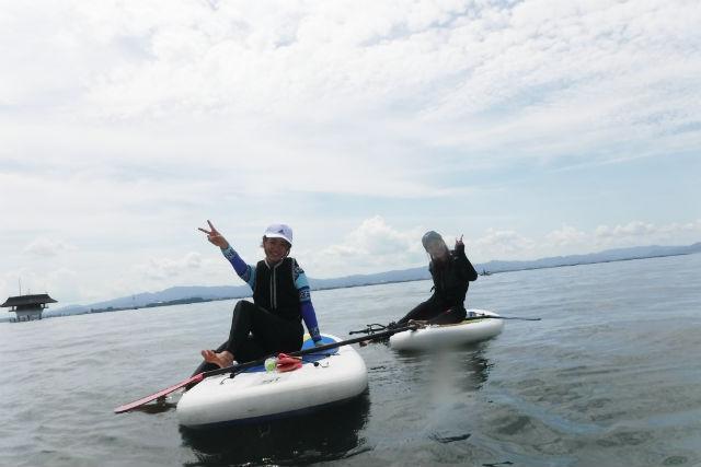 【滋賀・琵琶湖北湖・SUP】初心者限定!水のキレイなWani Baseで水上散歩を楽しもう!