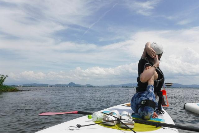 【滋賀・琵琶湖北湖・SUP】経験者向け上達コース!水のキレイなWani Baseでスキルを磨こう!