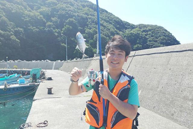 【大分・佐伯市・釣り】間越漁港で堤防釣り!釣竿レンタルプラン