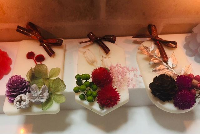 【福岡・手作りキャンドル】ボタニカルキャンドル&アロマワックスサシェ作り体験