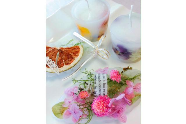 【茨城・取手・手作りキャンドル】お花と香りのアイテム!ボタニカルワックスバー作り