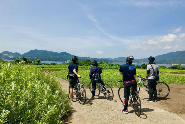 【島根・松江・サイクリング】ガイドと一緒に島探検!大根島サイクリングツアー