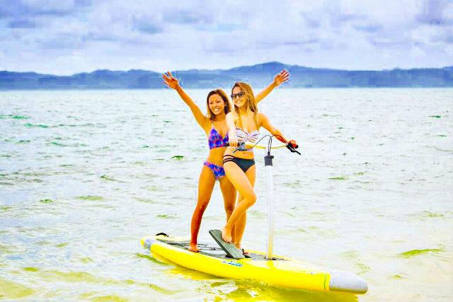 【沖縄・古宇利島・SUP】古宇利島を存分に楽しもう!ペダルサップレンタル90分