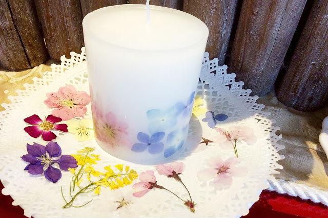 【栃木・那須・手作りキャンドル】押し花キャンドル/ボタニカルランタンキャンドル作り(1個)