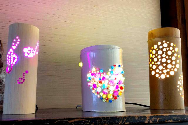 【鳥取・竹細工】幻想的な灯りのインテリア!デコ竹とうろう創作体験