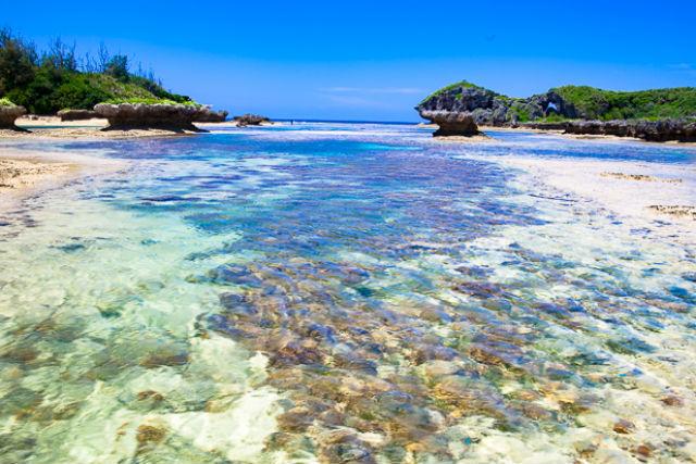 【沖縄・恩納村・無人島ツアー】美しい浅瀬で天然水族館体験!歩いて楽しめる無人島ツアー