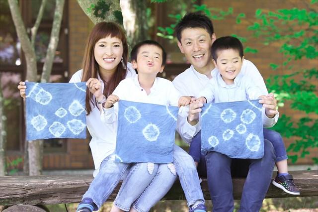 【栃木・那須・藍染体験】那須の青空みたい!やさしい藍色で染める布小物!