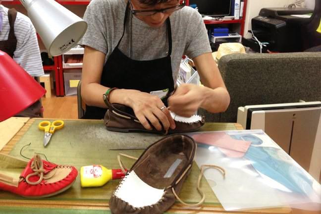 靴作り体験の画像