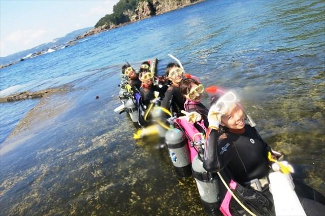 【静岡・伊豆・ライセンス取得】水中世界を楽しもう♪オープンウォーターダイバーコース!