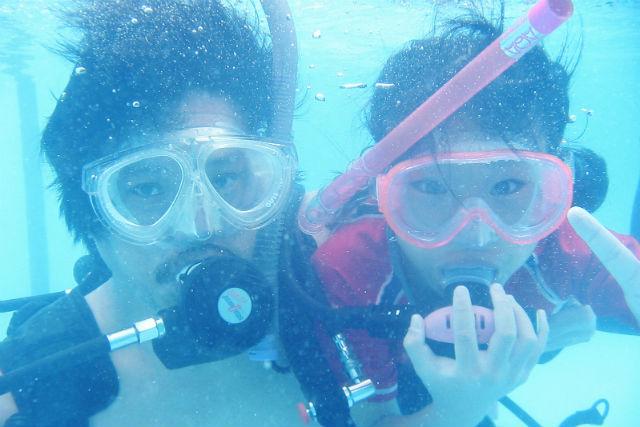 【体験ダイビング・ファミリープラン】 ご家族での楽しい思い出の1ページに★写真プレゼント