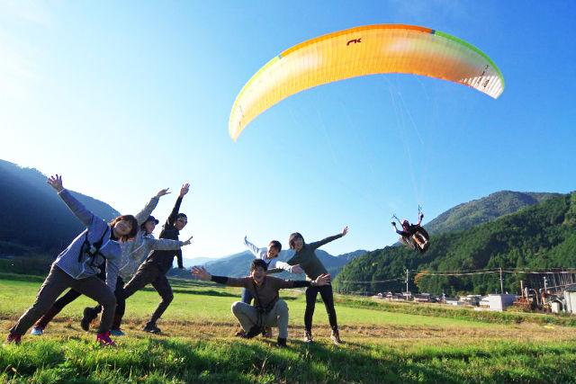 【兵庫・パラグライダー】関西一の高度差500mタンデム飛行&体験フライトセットプラン★ドリンクプレゼント