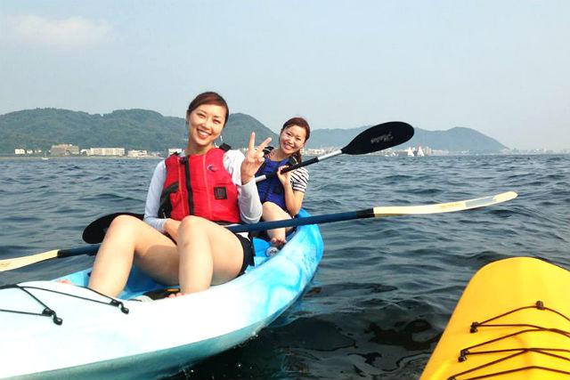 【神奈川・逗子・カヤック】逗子の海を冒険しよう!のんびりカヤックツアー(半日)