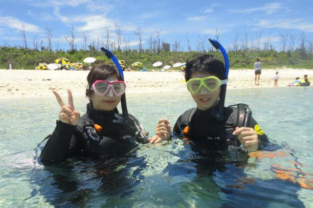 【沖縄・水納島・シュノーケリング】水納島わくわくボートシュノーケリング2パック