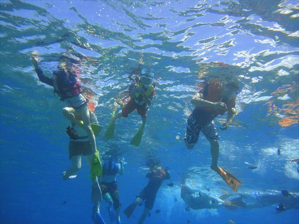 【沖縄・水納島・シュノーケリング・1日・ランチ付き】わくわくボートシュノーケリング&バーベキュー