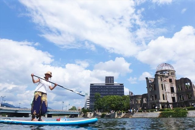 広島市・SUP(240分・原爆ドームを巡るツアー・記念写真付き)