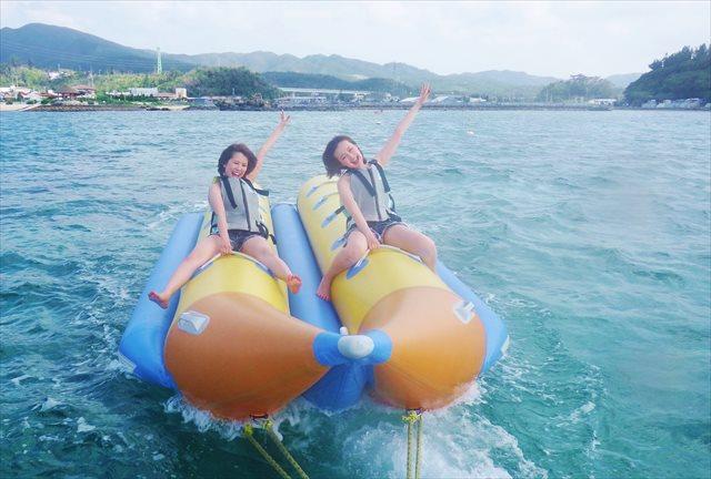 沖縄・恩納村・バナナボート(1回15分)