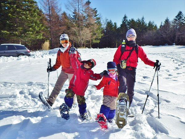 【山梨県・スノーシュー】家族みんなでスノーシュー!ワイワイ雪遊びプラン(週末・冬・春休み期間限定)