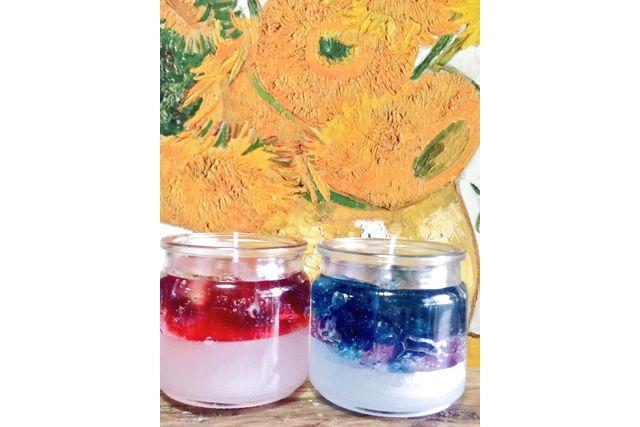 【名古屋・キャンドル作り】お花やアロマをぎゅっと閉じ込めて。二層のミックスワックスキャンドル