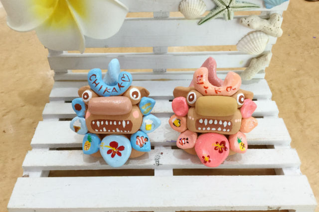 【沖縄・シーサー 絵付け】可愛い陶器シーサーに絵付け!自分だけのシーサーを作ろう