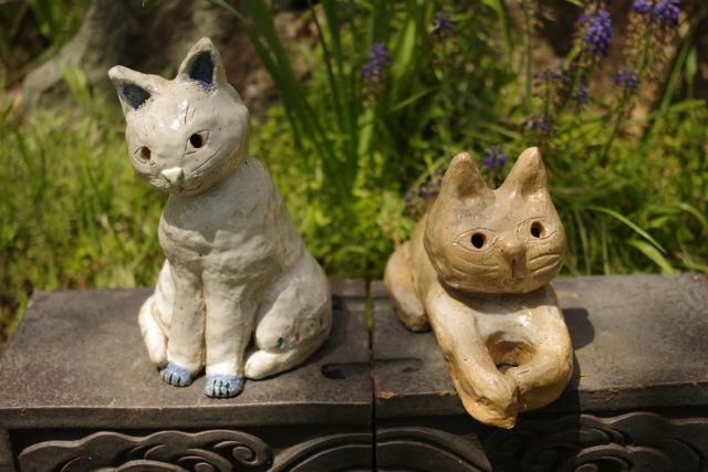 【新潟・阿賀野・手びねり】あなただけの可愛い作品をつくろう!猫の置物(1個)