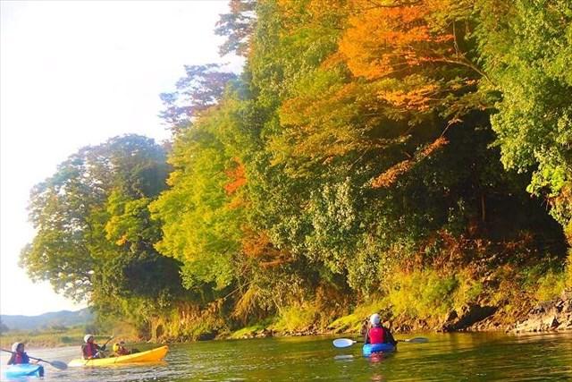 【茨城・那珂川・半日・カヌー】広大な里山の風景を味わおう。那珂川半日カヌープラン