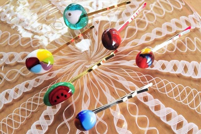 【兵庫・有馬温泉・ガラス細工】一点物のガラスを使った、ピン留めを作ろう!