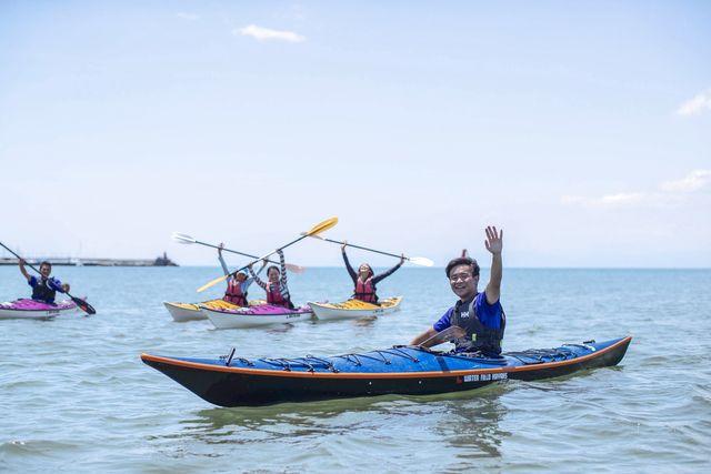 【神奈川・逗子・カヤック・半日】海の上を進む楽しさものんびりとアウトドア感も味わえる!一番人気のシーカヤック体験